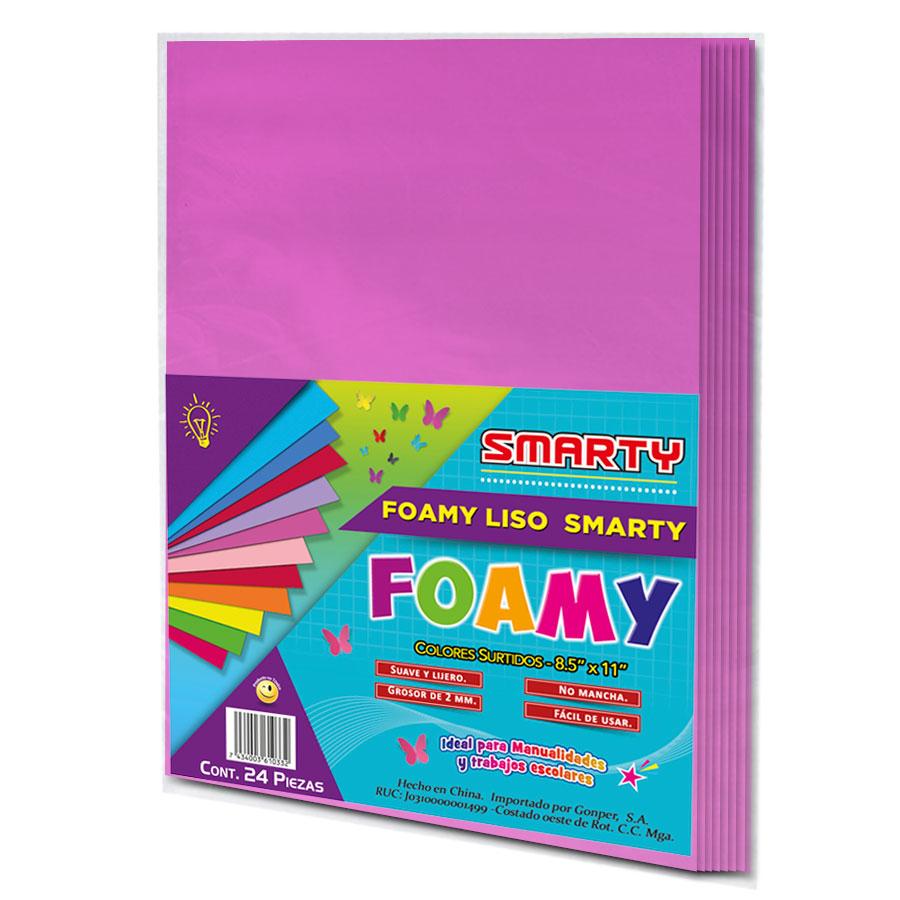 """FOAMY SMARTY T/C FUCSIA 8.5X11"""" 2MM PQ-24UD FSC052"""