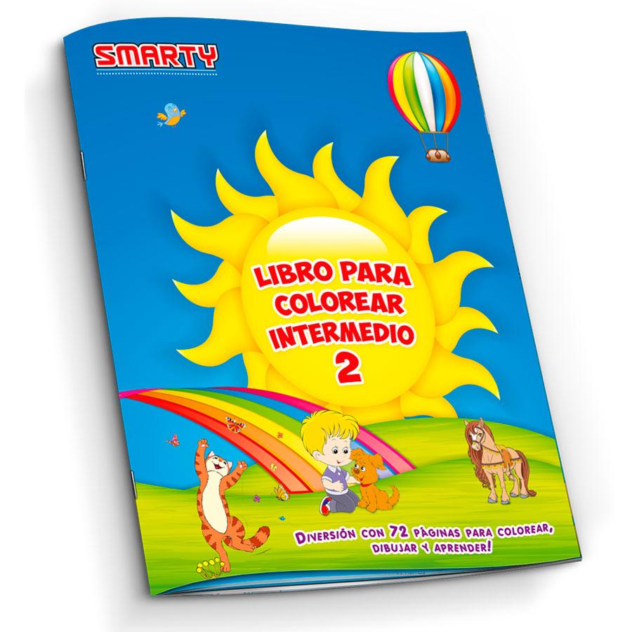 LIBRO PARA COLOREAR SMARTY INTERMEDIO II 72 PAG - Gonper Librerías