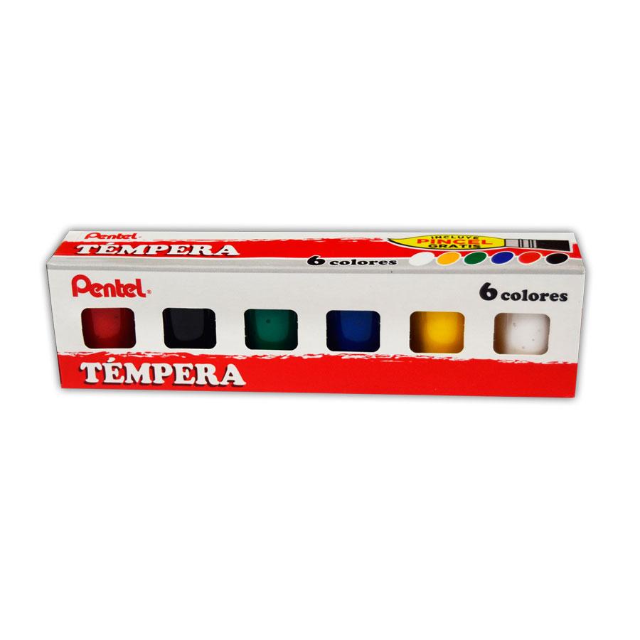 TEMPERA PENTEL 6 COLORES 15 ML