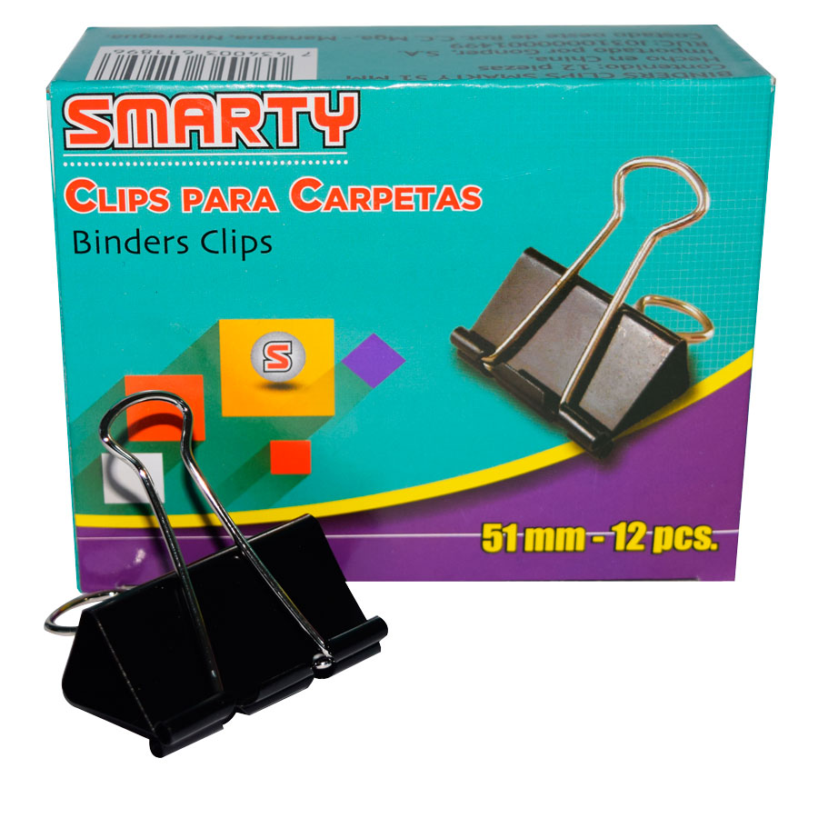 BINDER CLIPS SMARTY  SMT-51MM 2 CJ-12UD