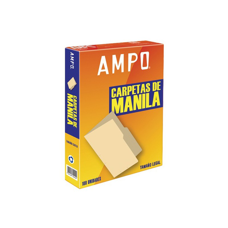 FOLDER AMPO MANILA T/LEGAL CAJA 100UDS