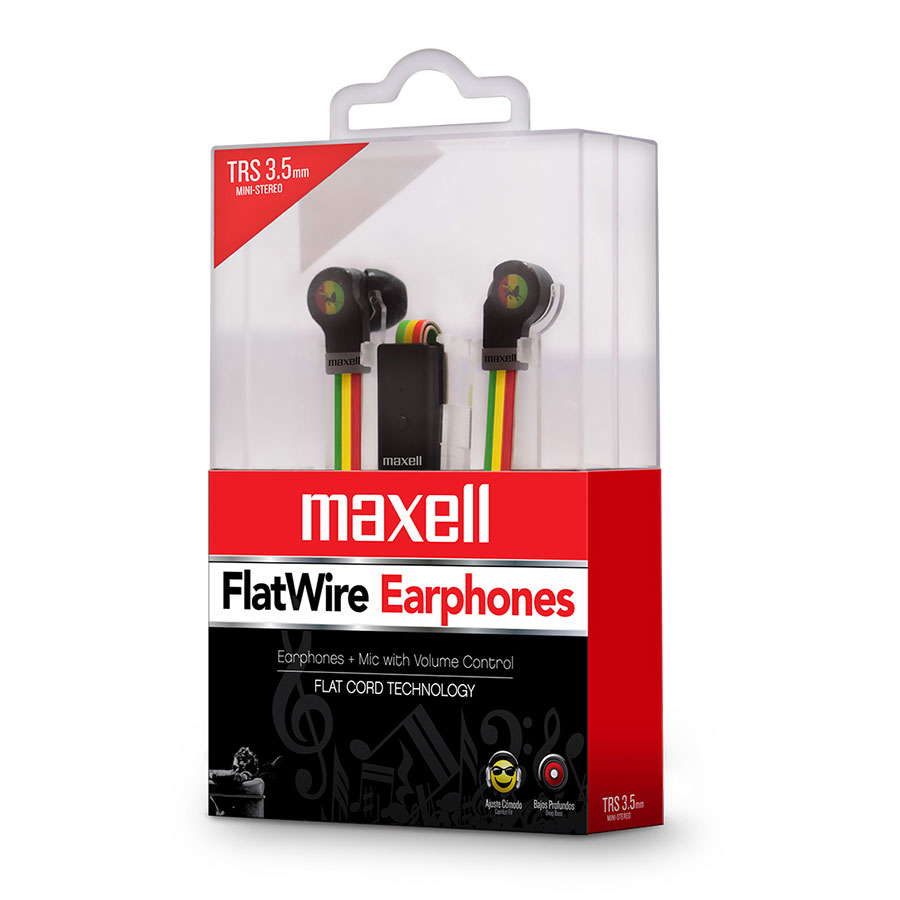 AUDIFONO MAXELL FLAT WIRE LEVEL RASTA TRS 3.5MM FL-450 347309