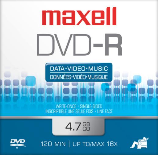 DISCO MAXELL DVD-R SOBRE 16X 4.7GB 638036 S-SE ECODATA