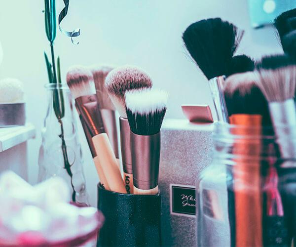 Higiene productos de maquillaje