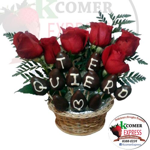 Te quiero con 6 Rosa