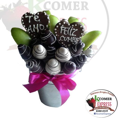 CF-28, Fresas con chocolate y Manzanas en hielera