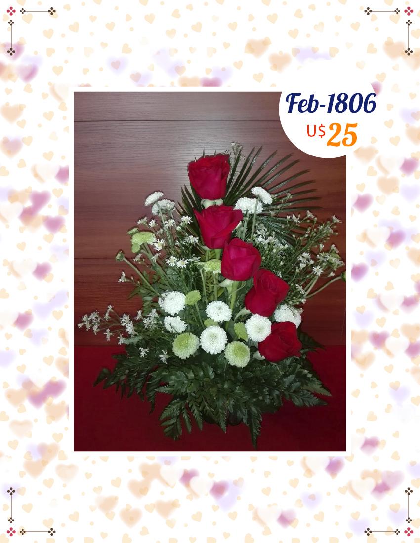Floral Rosas y pompones