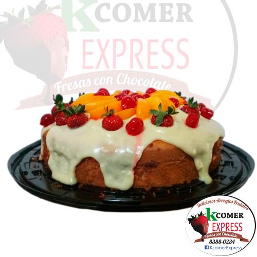 Torta de Vainilla con crema pastelera 1 libr