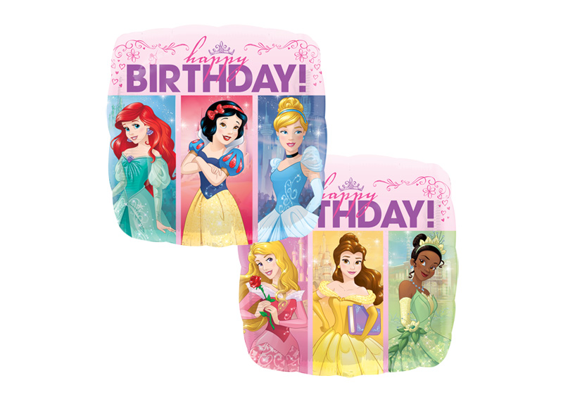 "GLOBO 18"" SQ HX PRINCES DREAM HAPPY BIRTHDAY"