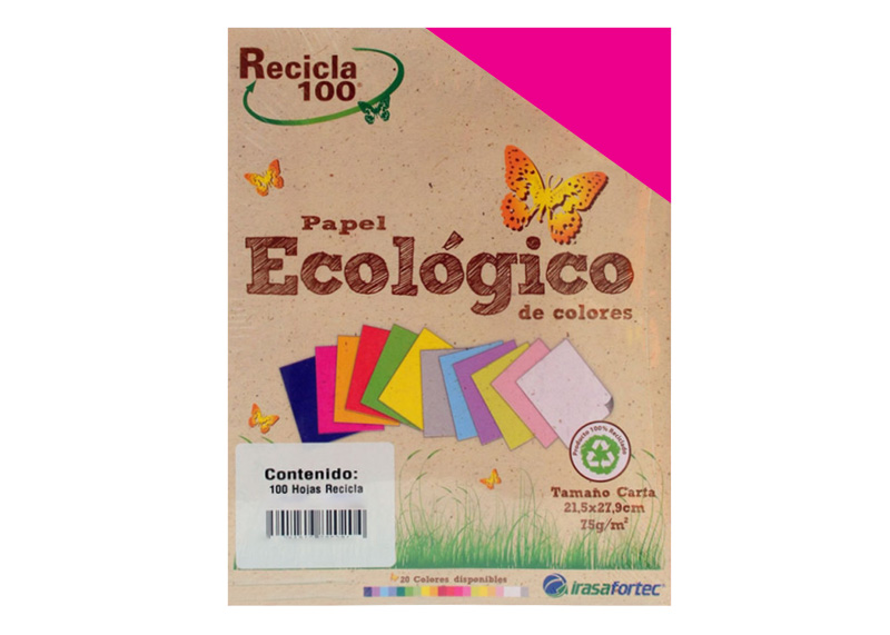 PAPEL BOND RECICLA 100H MAGENTA INTENSO