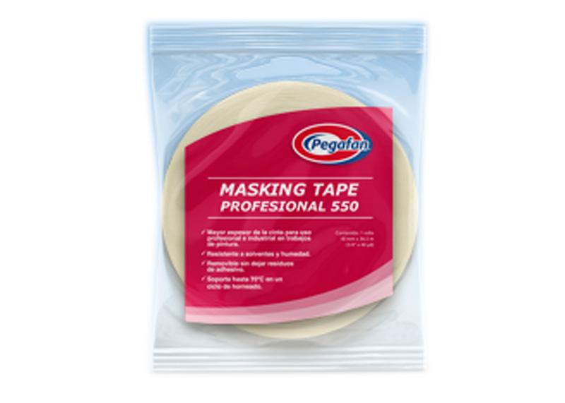 """MASKING TAPE 1"""" x 30 YARDAS 550 PROFESIONAL"""