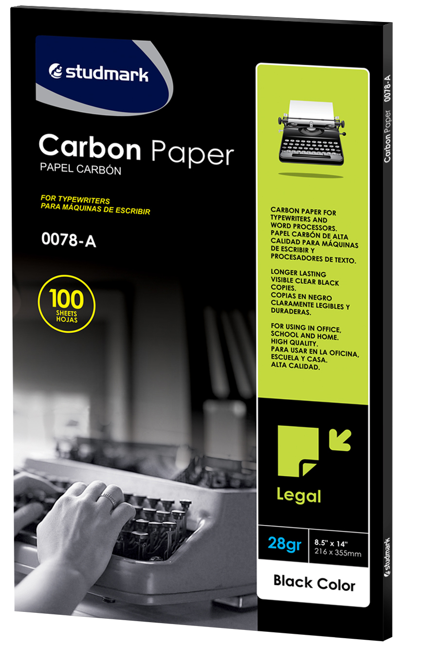 PAPEL CARBON T/LEGAL NEGRO STUDMARK
