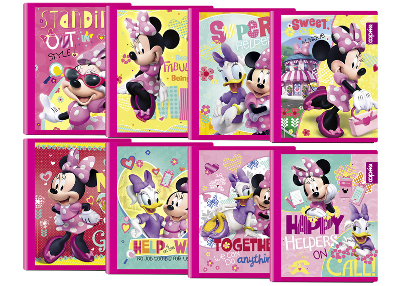 CUADERNO COSIDO GRANDE 100-200H RAYA MINNIE HAPPY HELPERS