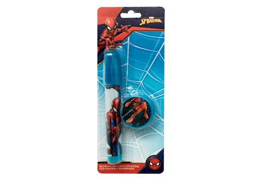 BORRADOR POP UP+TAJADOR SPIDERMAN