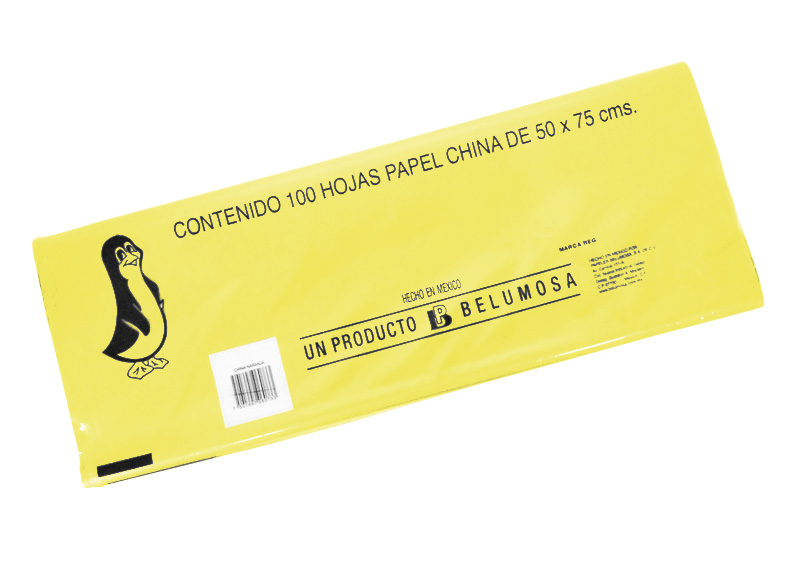 PAPEL CHINA UND AMARILLO HUEVO 18 grms