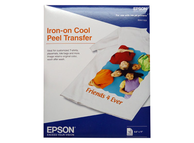 PAPEL EPSON IRON-ON TRANSFER TAMAÑO CARTA PQT 1/10 PARA CAMISETAS