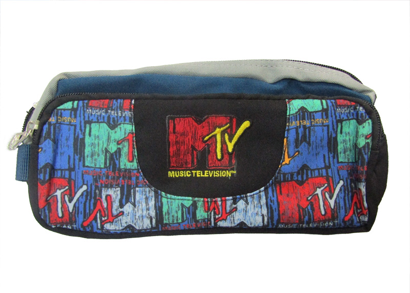 "CARTUCHERA MTV 9.5""X4.5""X4.5"" ESTAMPADO 2 DEPOSITOS"