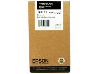 Tinta EPSON Negro Foto 220ml - SP7800/7880/9800/9880 (Replaces T563100)