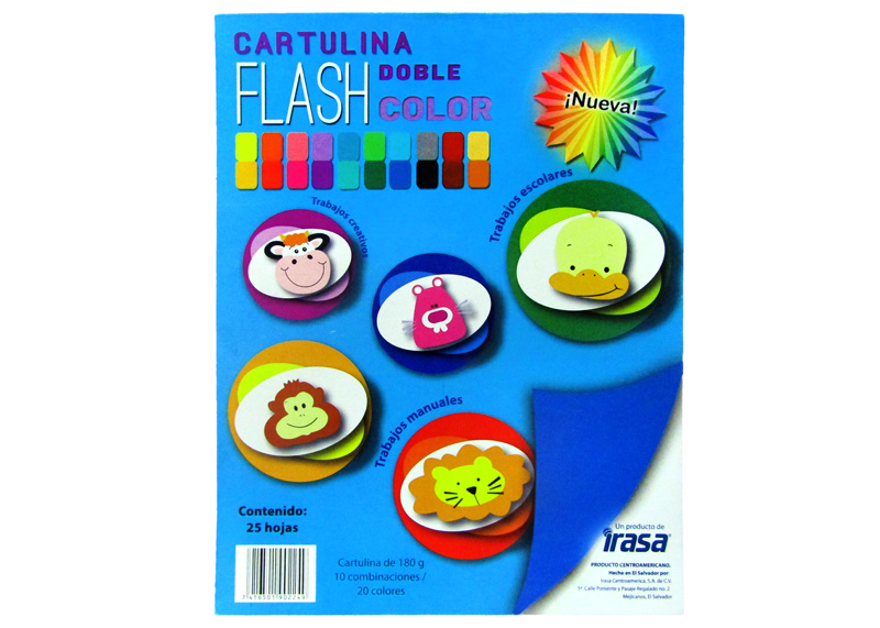 BLOCK CARTULINA FLASH SURTIDA CARTA 25H 180GR (20 COLORES)