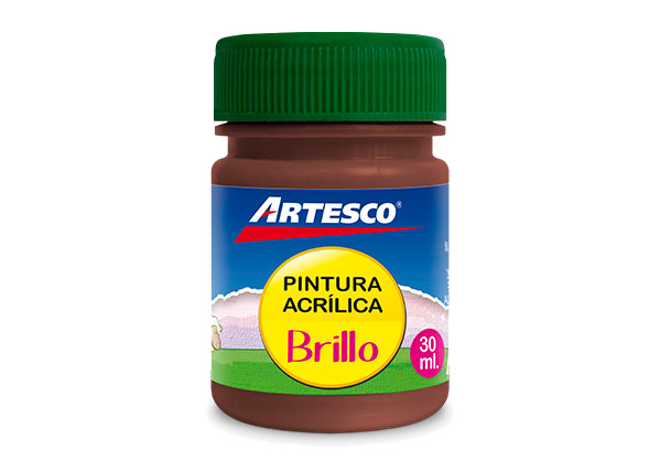 PINTURA ACRILICA BRILLANTE MARRON 30ML UND