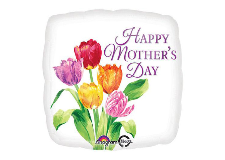 "GLOBO ""HAPPY MOTHER´S DAY"" CUADRADO C/FLORES"