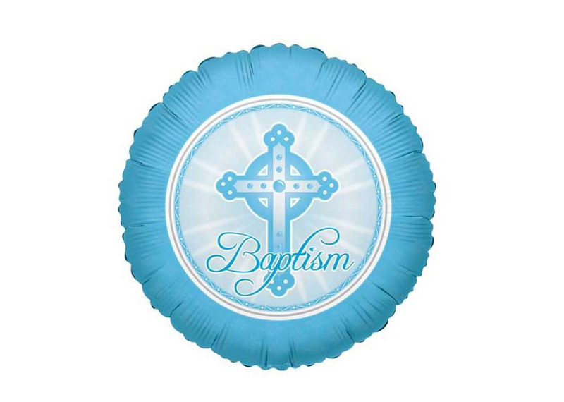 "GLOBO 18"" SV BAPTISM LIGHT BLUE"