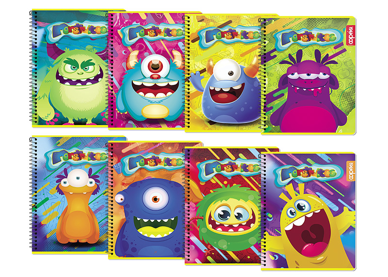 CUADERNO UNIVERSITARIO D/O 100H RAYA MONSTER