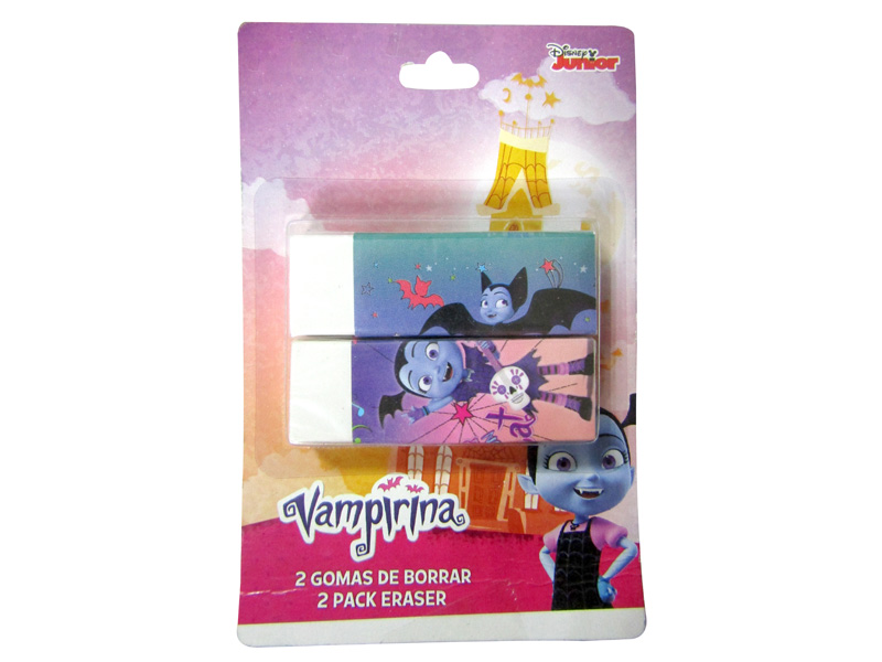 BORRADOR RECTANGULAR VAMPIRINA (PACK-2)