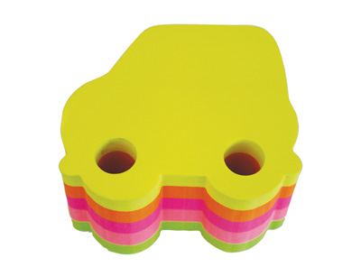 BLOCK ADHESIVO CARRO NEON 3x3 400H 5 COLORES
