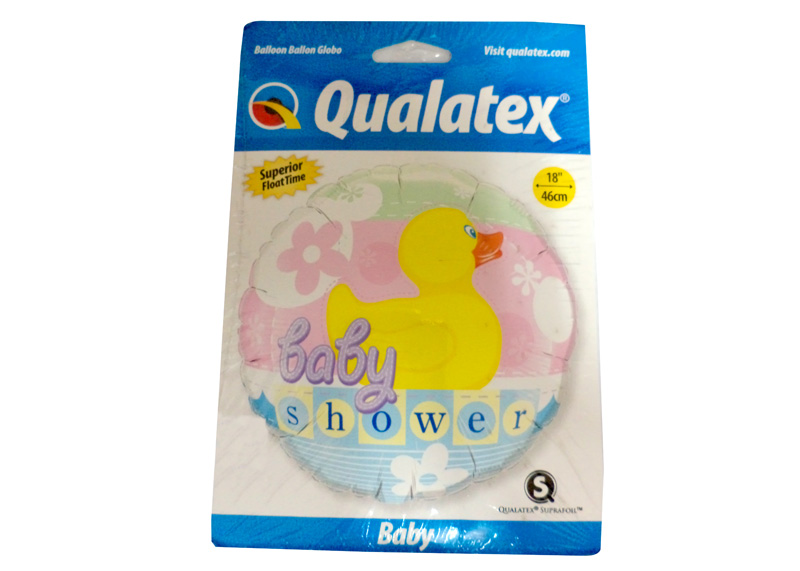 "GLOBO ""18"" BABY SHOWER RUBBER DUCKIE"
