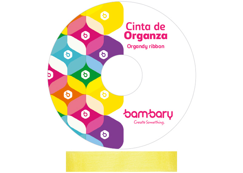 CINTA ORGANZA No.5 25 mm 1PLG 25 yd AMARILLO