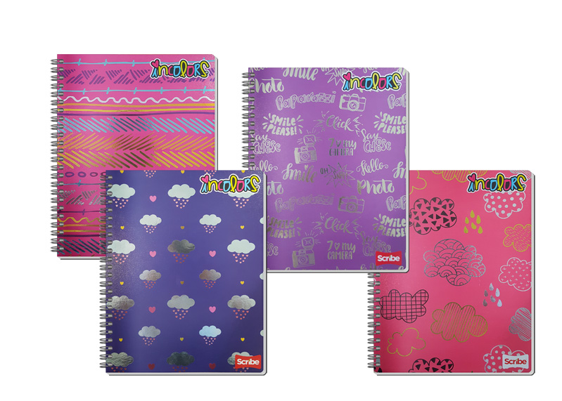 CUADERNO ESPIRAL RAYA IN COLORS