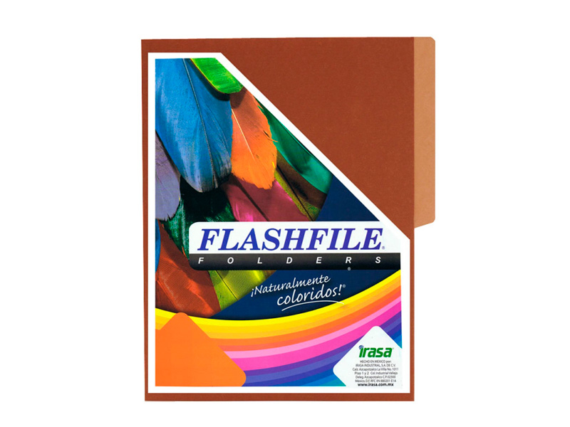 FOLDER BITONO TAMAÑO CARTA FLASHFILE CAFE PAQ X 5 und.
