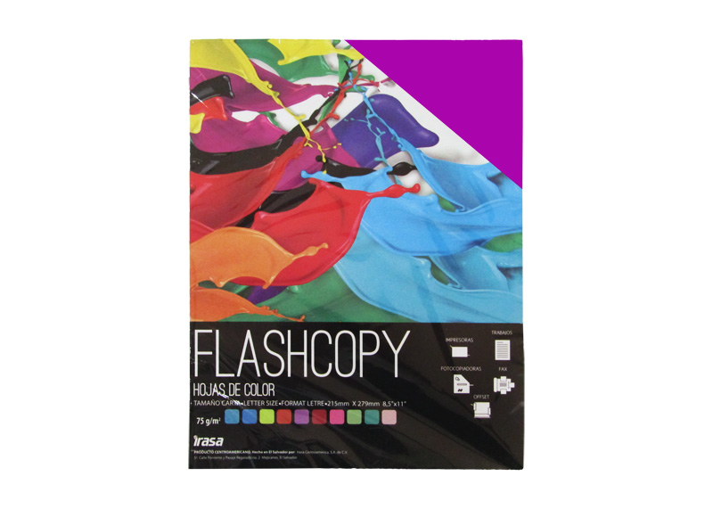 PAPEL BOND DE COLOR FLASHCOPY CARTA VIOLETA 100H