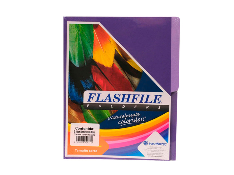 FOLDER BITONO TAMAÑO CARTA FLASHFILE LILA PAQ X 5 und.