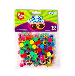 OJITOS MOVIBLES P/MANUALIDADES 10mm PQT-160PCS