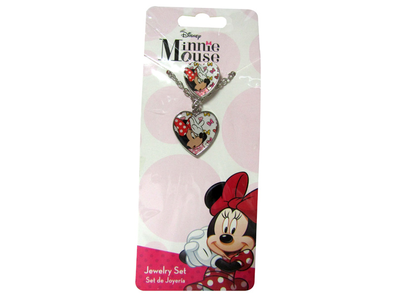 SET DE COLLAR Y ACCESORIOS MINNIE (BLISTER)