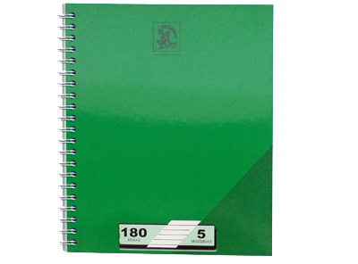 CUADERNO UNIVERSITARIO 180H 5 MATERIAS 4RAY 1 CUADRO 8MM