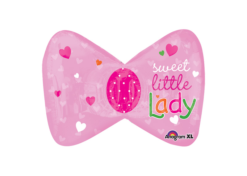 "GLOBO 14"" MIN SHP LITTLE PRINCES BOW llenar solo con aire normal"