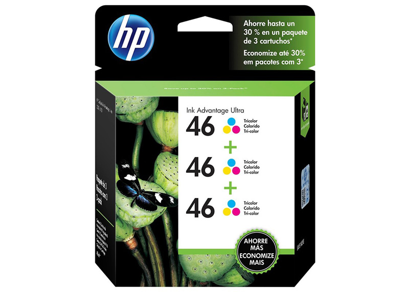 CARTUCHO HP #46 TRICOLOR PARA INK ADVANT ULTRA 4729 3PACK (2,250 Pag.)