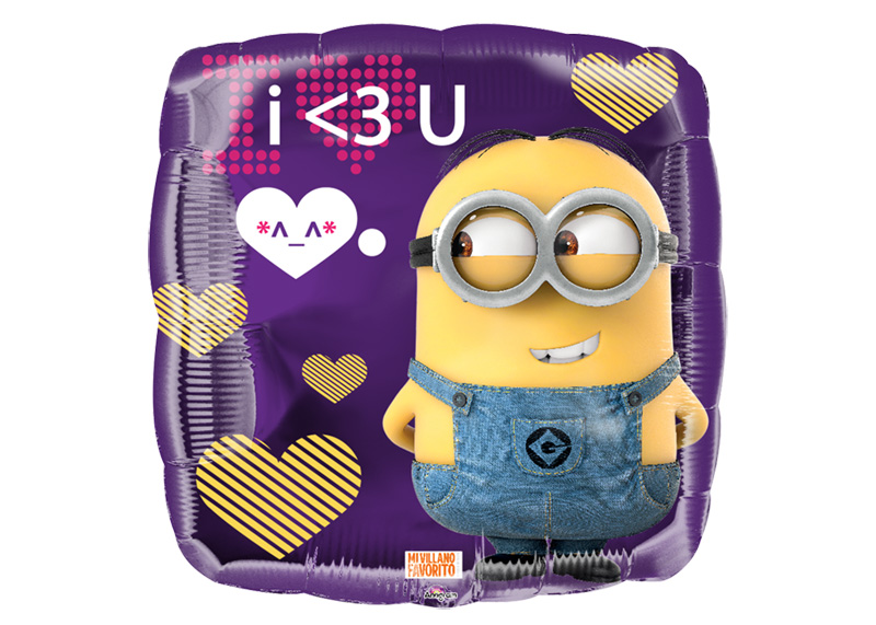 "GLOBO 18"" SQ MEX MINION I LOVE YOU"