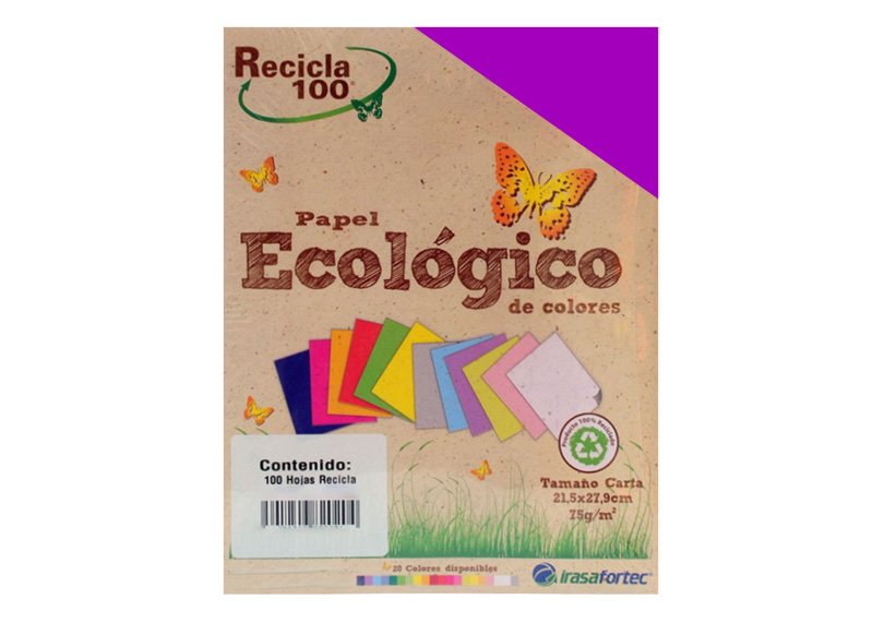 PAPEL BOND RECICLA 100H MORADO INTENSO