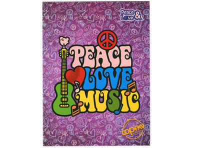 CUADERNO UNIVERSITARIO ESPIRAL 200H RAYA PEACE AND LOVE 5 MATERIAS