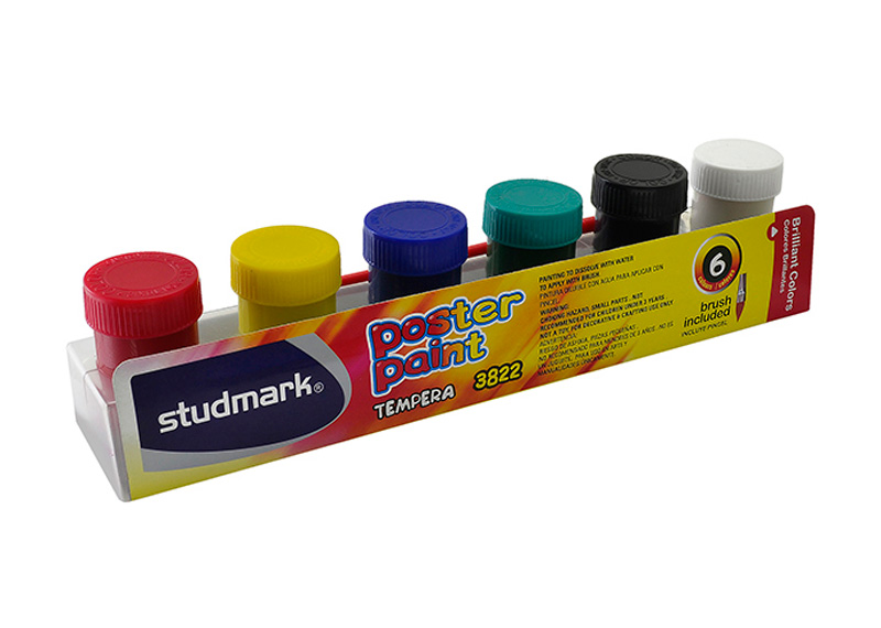 TEMPERA DE 6 COLORES 20ML X 6 COL.+ PINCEL