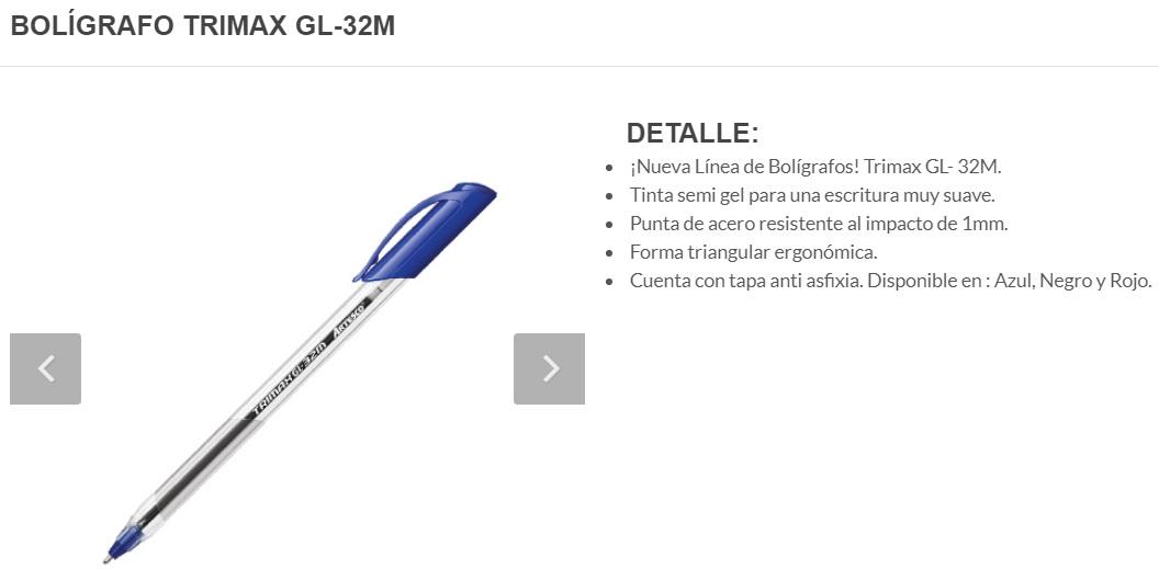 LAPICERO TRIMAX GL-32M NEGRO UND