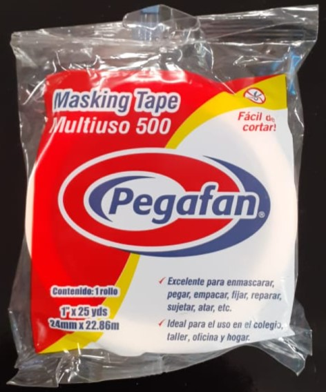 "MASKING TAPE 1"" x 25 yd. (24mm x 22.8m) MULTIUSO"