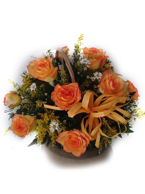 Arreglo rosas naranjas