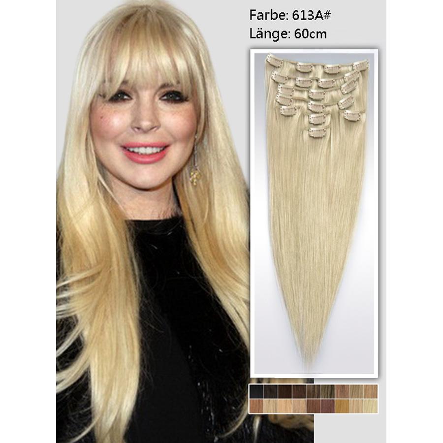 Extension de cabello MJ extra larga lisa 7 cortinas 26