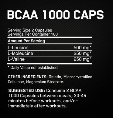 BCAA 1000CAPS