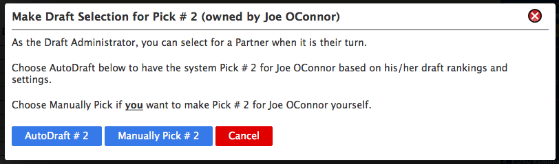 administrator pick